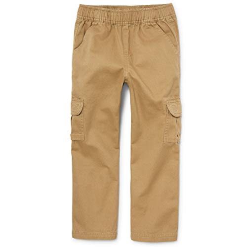The Children's Place Little Boys' Pull-On Cargo Pant, Flax, - Twill Pants Infant Boys