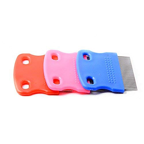 whatBYDs Grooming Comb for Dog Cat Stainless Steel Toothed Flea Removal Cleaning Brush ()
