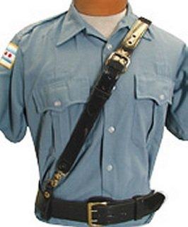 - Boston Leather Sam Browne Shoulder Strap GOLD #6511-2