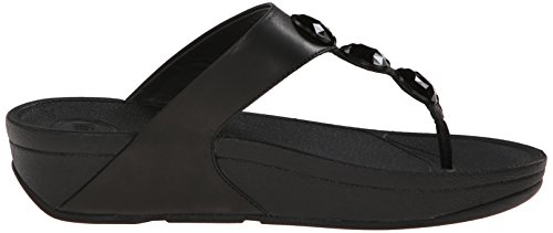 FITFLOP Noir CUIR 476 PETRA 090 femme tongs OAOqwPgR
