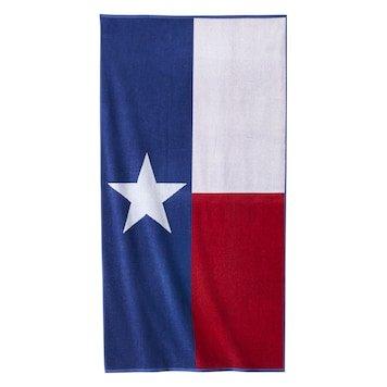 Celebrate Summer Together Texas Flag Turkish Cotton Beach Towel