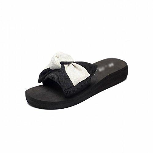 Pantoufles Les Pantoufles Et Dididd Tongs blanc Plage Sandales Portent Sauvages Mot Slip 39 Mode Avec Des Fleurs Femmes De 8qa4xq