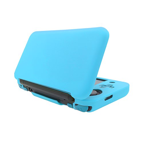 FastSnail Silicon Case for New Nintendo 2DS XL/LL, Protective Cover Skins for New Nintendo 2DS XL/LL Blue