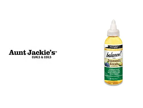 AUNT JACKIE'S OIL- Balance Grapeseed & Avocado Growth Oil 4oz ()