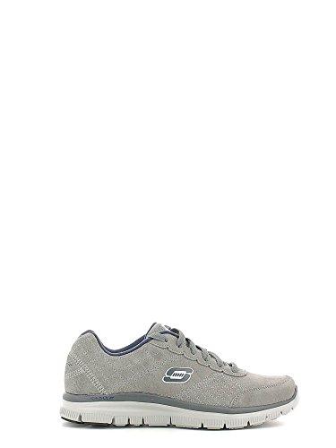 Skechers 999704/CHAR Zapatillas De Deporte Hombre Gamuza Gris Charcoal