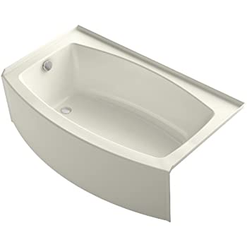 Alcove Bath Tub  Biscuit