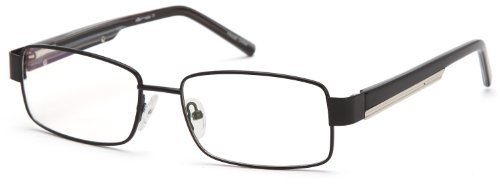 Mens Square Glasses Frames Black Prescription Eyeglasses Rxable - Frames Steel Stainless Eyeglass