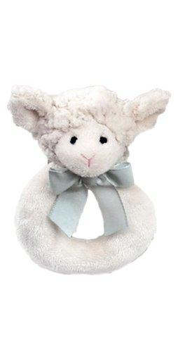 Bearington Baby Lamby Plush Rattle product image