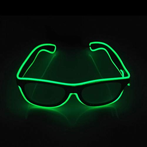 92b70c88fb Luminous Glasses Adjustable Light Up Glasses, Novelty Party Dress Decor  (Green)
