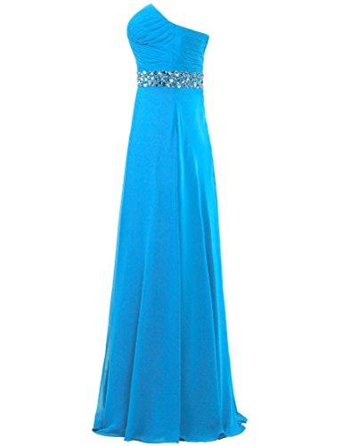 ANTS Weddings Long Women's Blue for Strapless Dresses Bead Chiffon r6rWR70
