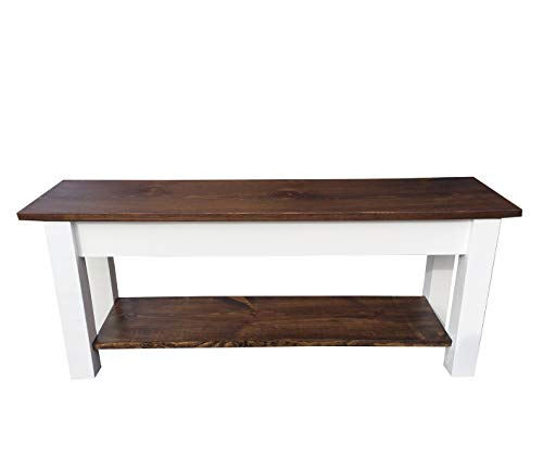Colonial Harvest Bench with Shelf (42) ()