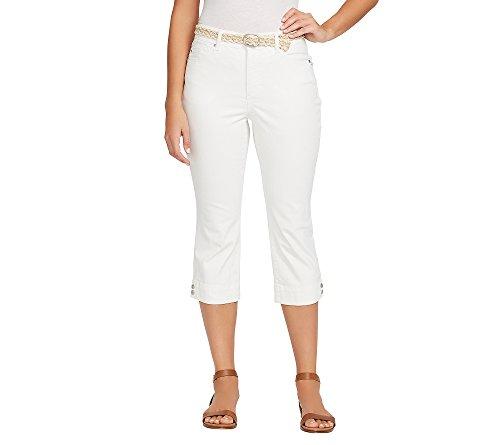 Bandolino Women's Mandie 5 Pocket Belted Capri, White ()