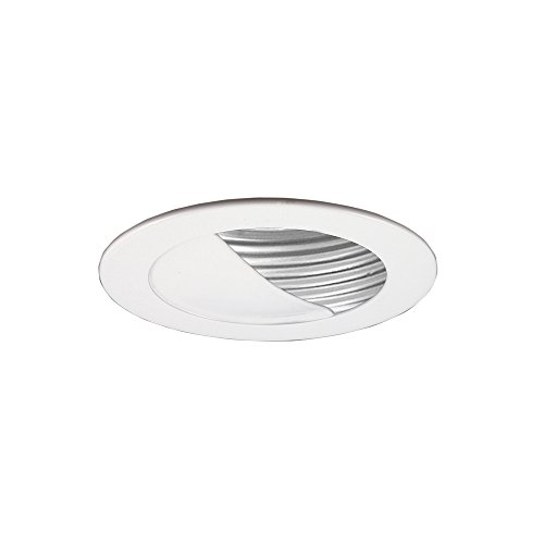 Jesco Lighting TM304WHWH Aperture Low Voltage Trim with adjustable Step Baffle 3 in. White