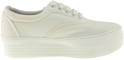 Top Sneakers White Boat Low Maxstar Canvas Shoes Simple Platform 1RXwYX
