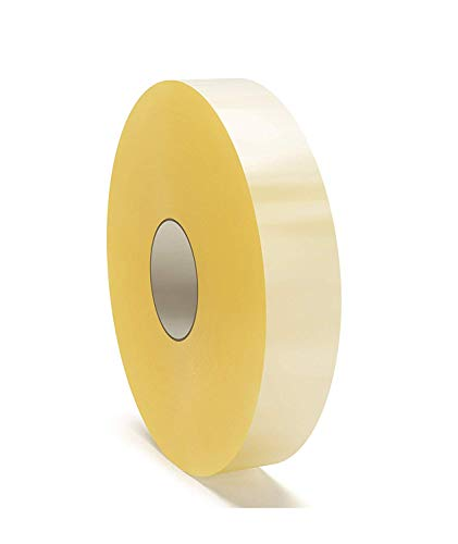 Machine Length Packing Tape, Carton Sealing Tape, 2 Inch x 1000 Yards, Clear, 1.75 Mil Thick, 6 Pack