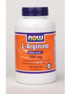 (L-Arginine, 500 mg, 250 Caps by Now Foods (Pack of 3) )