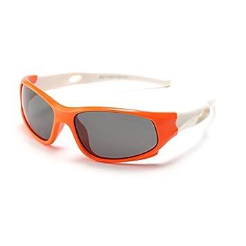 ZX Niños Gafas de sol, Sport Style Gafas de sol polarizadas marco de goma flexible
