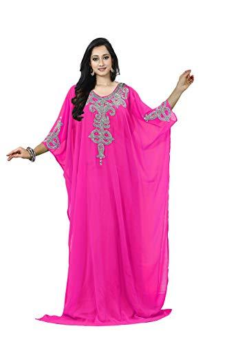 KoC Women's Kaftan Maxi Dress Farasha Caftan KFTN110-Pink ()