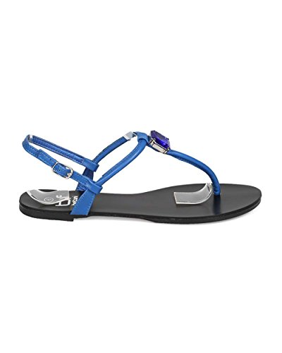 Sandali Infradito Tacco A Spillo Similpelle Betani Eh63 Donna In Similpelle Blu