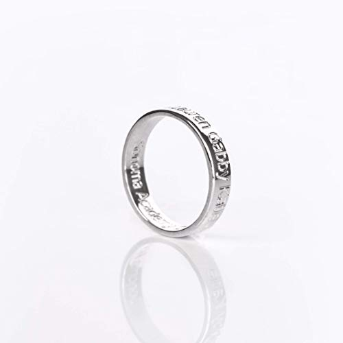 (Custom Name or Date Engraved Ring Band is Sterling Silver, Rose or Yellow Gold Plated [R4])