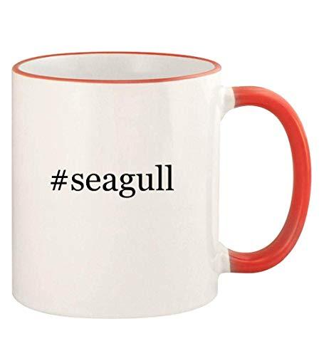 #seagull - 11oz Hashtag Colored Rim and Handle Coffee Mug, Red