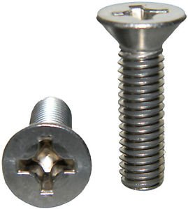 """Stainless Steel Flat Head machine Screws 8-32 x 2-1/4"""" Qty 25 from Lightning Stainless Bolt"""