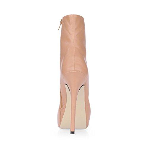 la chair de Nouveau nuit ronde Skin à démarrage haute tête talon la color mi d'hiver mesdames femelle démarrage de Plaisirs chaussures xTvnwSP4q1