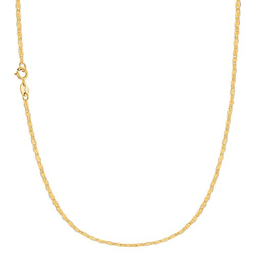 Ritastephens 10k Solid Yellow Gold Mariner Link Chain 16 Inches