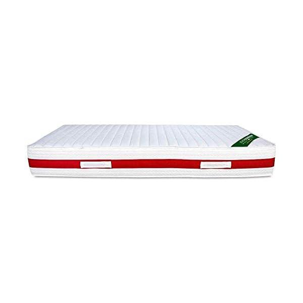 EVERGREENWEB - Materasso Singolo 80x190 in Memory Foam Alto 22 cm con Cuscino Cervicale Gratis Lastra Massaggiante… 5 spesavip