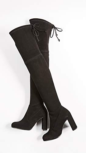 Suede Weitzman Black Women's Nutmeg Knee Hiline Nutmeg Over Boot Stuart 44 The AqvPdxq4