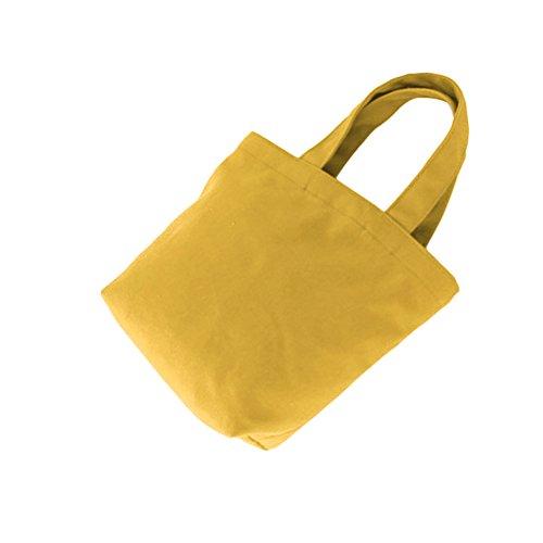 Color Bag Solid Turmeric Lunch Portable Handbag Clutch Women Storage Canvas Cosmetics Pengyu 5qpfwTax0w