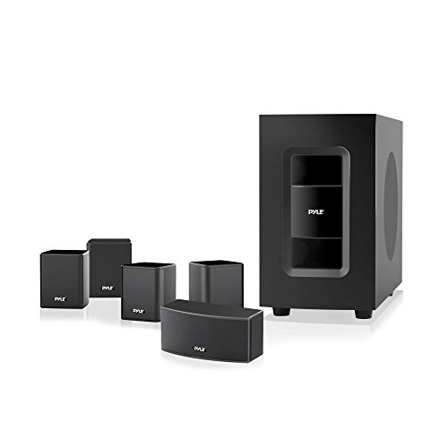 Pyle 5.1 Channel Home Theater Speaker System, Active Subwoofer & Surround Sound Audio Home Theater System. (PT584BT) by Pyle