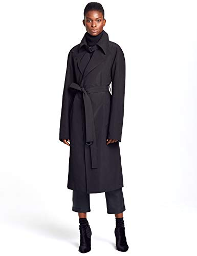 New York Rain Belted Unisex Trench Coat by LANDEROS (Black)