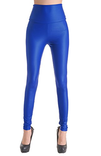 Royal Blue Leather Pants - 3