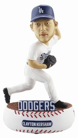 Forever Collectibles Clayton Kershaw Los Angeles Dodgers Baller Special Edition Bobblehead MLB ()
