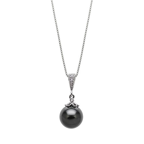 Jinique Swarovski Elements 10mm Pearl 925 Sterling Silver Pendant 18