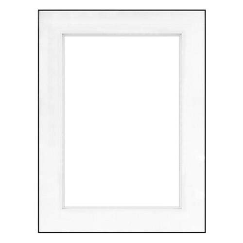 "Fineline Picture Frame Color: Black, Size: 16"" x 20"" Frame/8"" x 12"" Shadow Mat -  Framatic, F1620BD53"