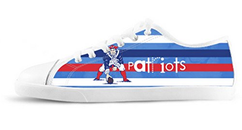 Patriots Background Nonslip Lady's Sneakers for Fans