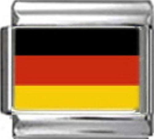 Stylysh Charms Germany German Flag Photo Italian 9mm Charm PC065 Fits Nomination Classic