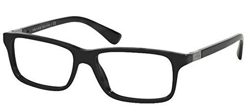 1ab1o1 Glasses - Prada PR06SV Eyeglass Frames 1AB1O1-54 - Black PR06SV-1AB1O1-54