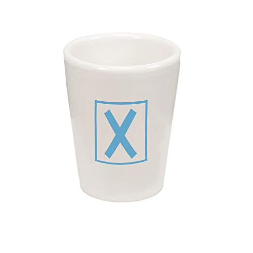 Style In Print Light Blue X Box Initial Monogram Letter X Ce