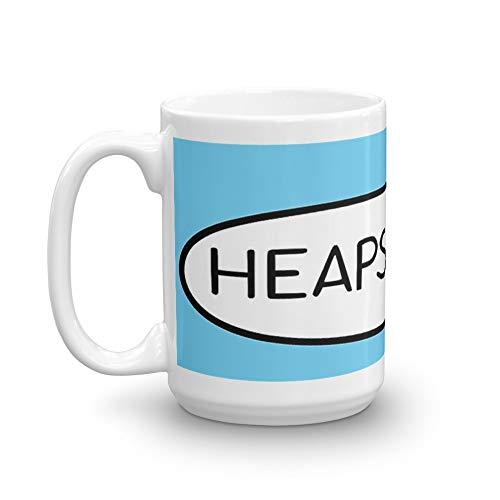 Australian Slang-Heaps Good! 15 Oz White Ceramic.15 Oz Classic Coffee Mugs, C-handle And Ceramic Construction.