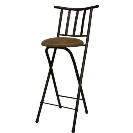 Set Of 2 Slat Back Folding 24u0026quot; Barstool, Folding Chair Stool, Bronze  With
