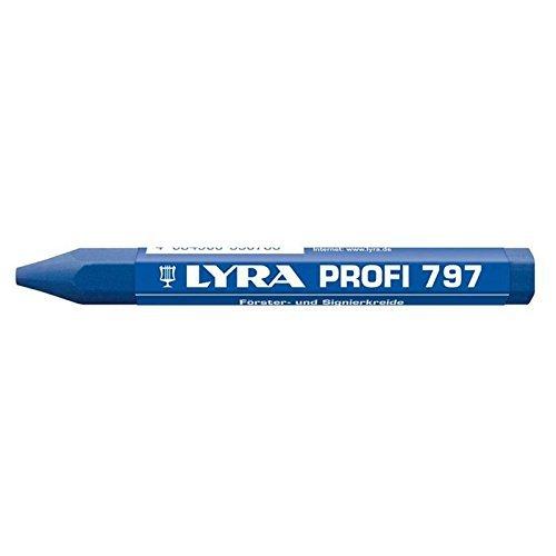 Lyra 797.01 Fö rster-/Signierkreide 6-Kant in blau - 1 Stü ck
