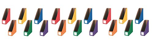 Bankers Box Classroom Magazine File Organizers, 4-Inch, Assorted Colors, 6 Pack (3381901) (18 PACK) by Fellowes