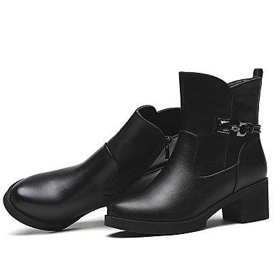 Kunststoff Kleid Stiefel amp; Für Schuhe Stiefeletten Winter Stiefeletten Party Damen AIURBAG Modische Herbst Booties Springerstiefel Stiefel qEwRR1