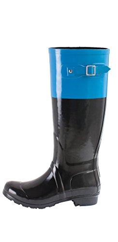 Oakiwear Monumenta Womens Rain Boots (8, Blue) Image