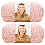 Bulk Buy: Vanna's Choice Lion Brand Yarn (2-Pack) (Pink)