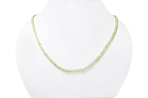 Natural Lemon Quartz Faceted Rondelle Beads Necklace with Sterling Silver Findings 16