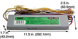 (Case of 5) Aluminum Rapid Start Electronic Fluorescent Ballasts - EL2110-120/277HF by Damar
